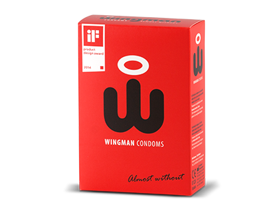 Wingman 8 condoms with easy 'wing' applicator